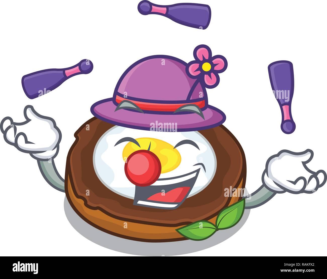 Juggling scotch eggs at the mascot bowl - Stock Vector