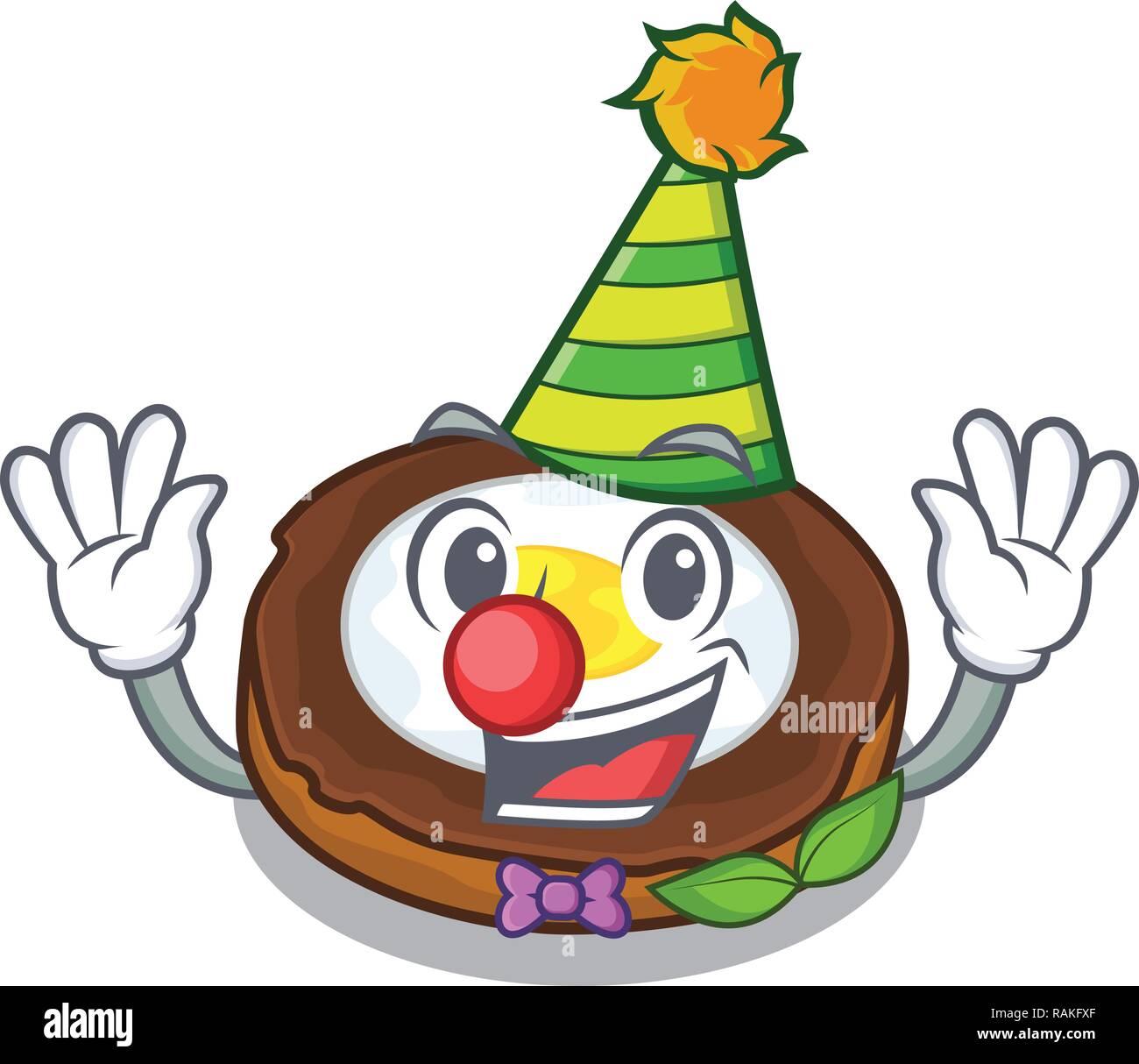 Clown scotch eggs at the mascot bowl - Stock Vector