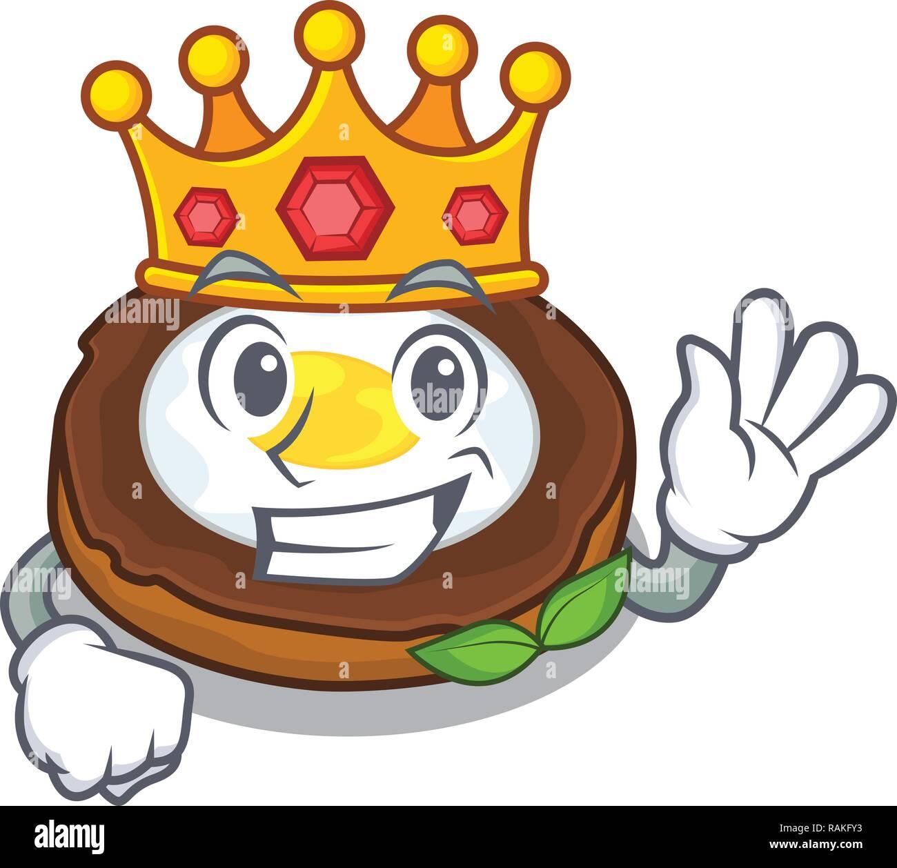 King scotch eggs at the mascot bowl - Stock Vector