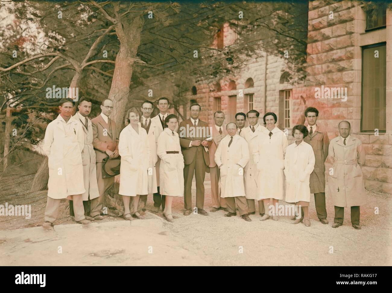 Zionist activities in Palestine. Members of the Hebrew University staff. 1925, Jerusalem. Reimagined - Stock Image