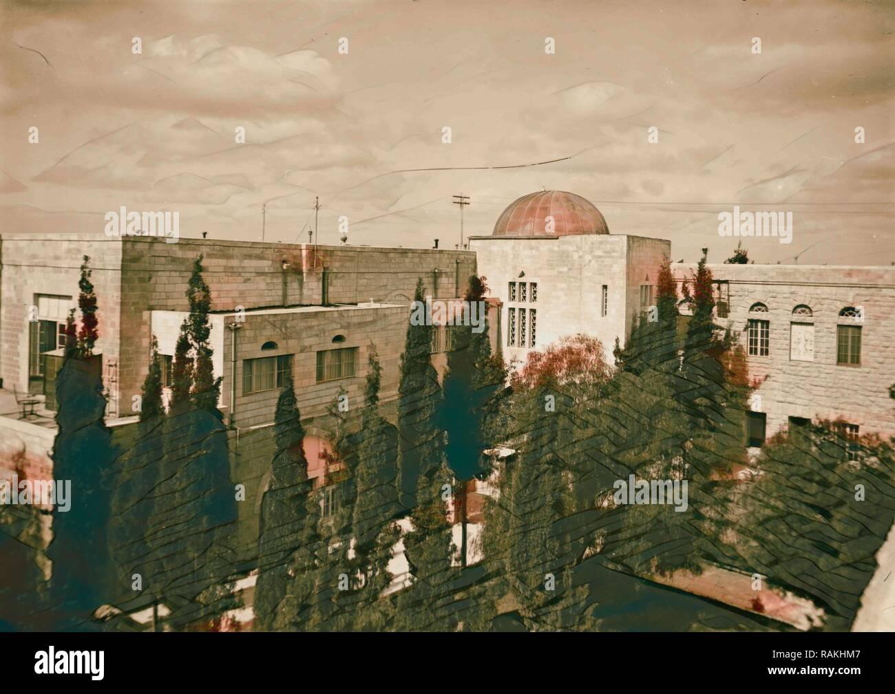 Olivet, Scopus, and Gethsemane. Mount Scopus, The Hebrew University 1898, Jerusalem, Israel. Reimagined - Stock Image