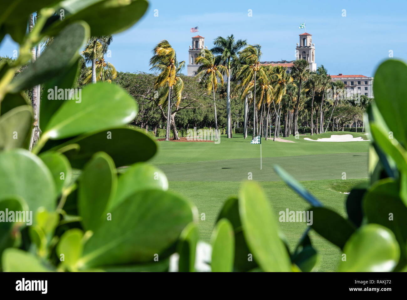 The Ocean Course, Florida's oldest golf course, at The Breakers oceanfront resort in Palm Beach, Florida. (USA) - Stock Image