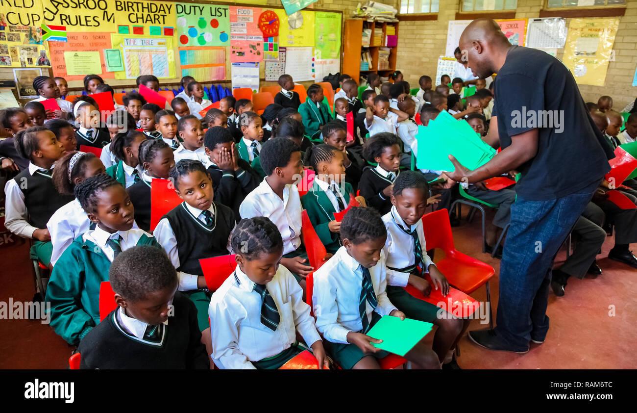 Soweto School Children Stock Photos & Soweto School Children Stock