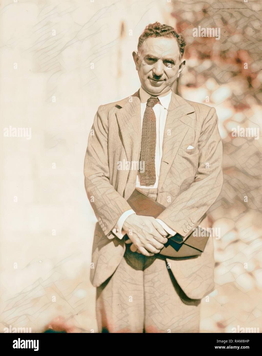 Palestine disturbances 1936. Nuri Pasha Es-Said, Foreign Minister of Iraq, arbitrator for the Palestine cause. 1936 reimagined Stock Photo