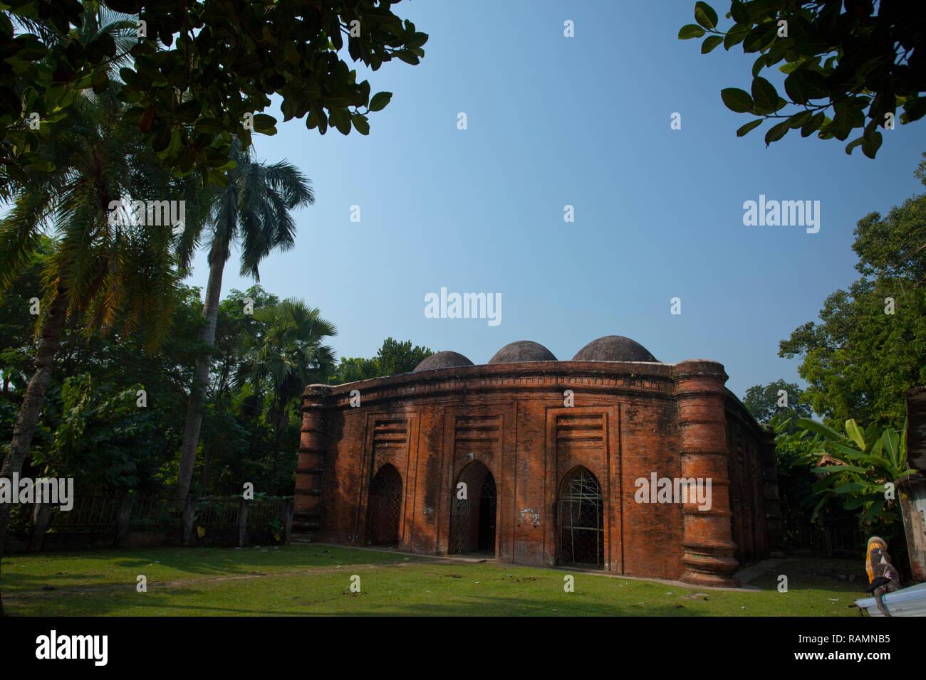 Nine Domed Mosque. Bagerhat, Bangladesh. - Stock Image