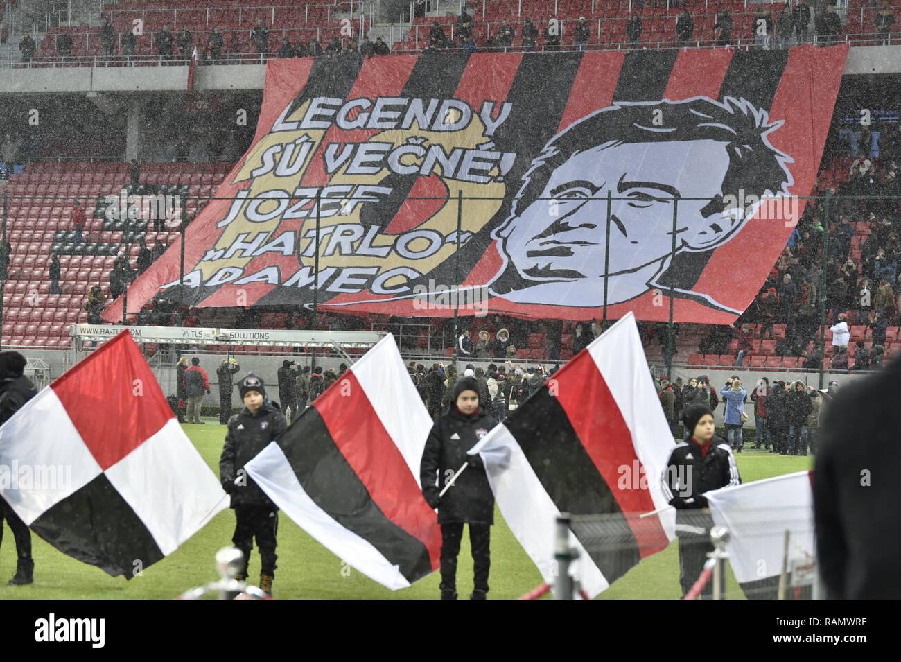 Last farewell ceremony with legendary Slovak football forward Jozef