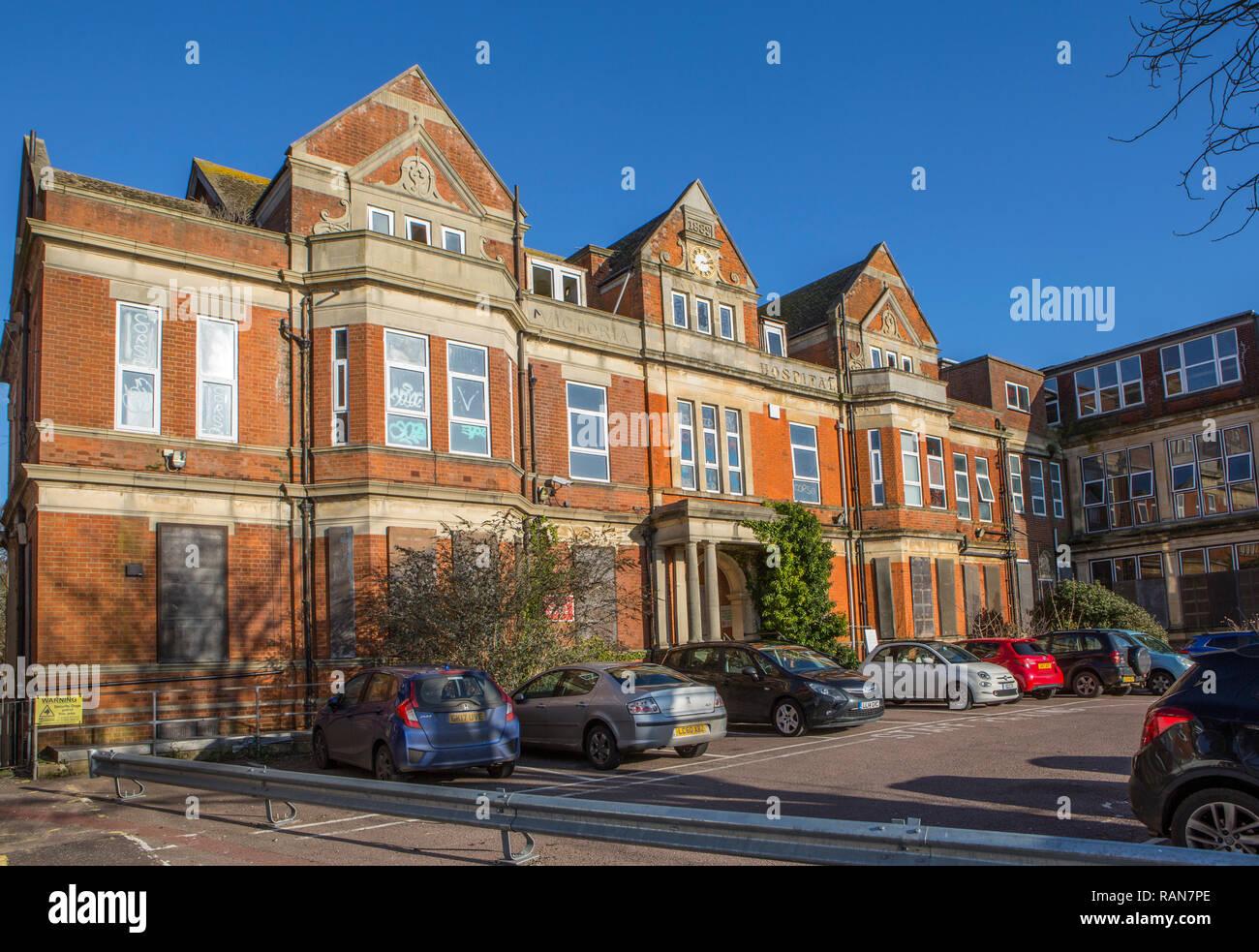 The old Royal Victoria Hospital, Folkestone, Kent, UK. Stock Photo