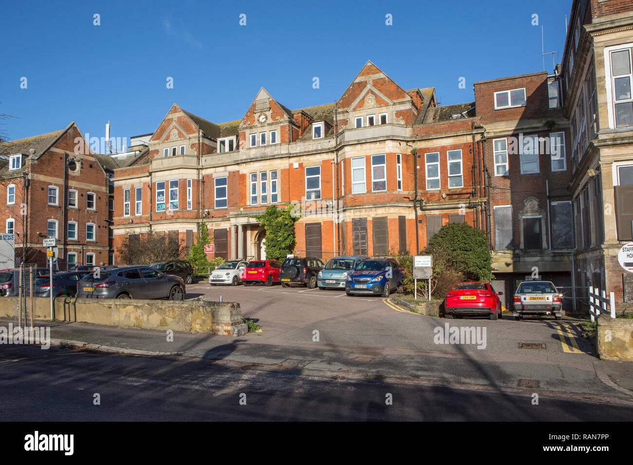 The old Royal Victoria Hospital, Folkestone, Kent, UK. - Stock Image