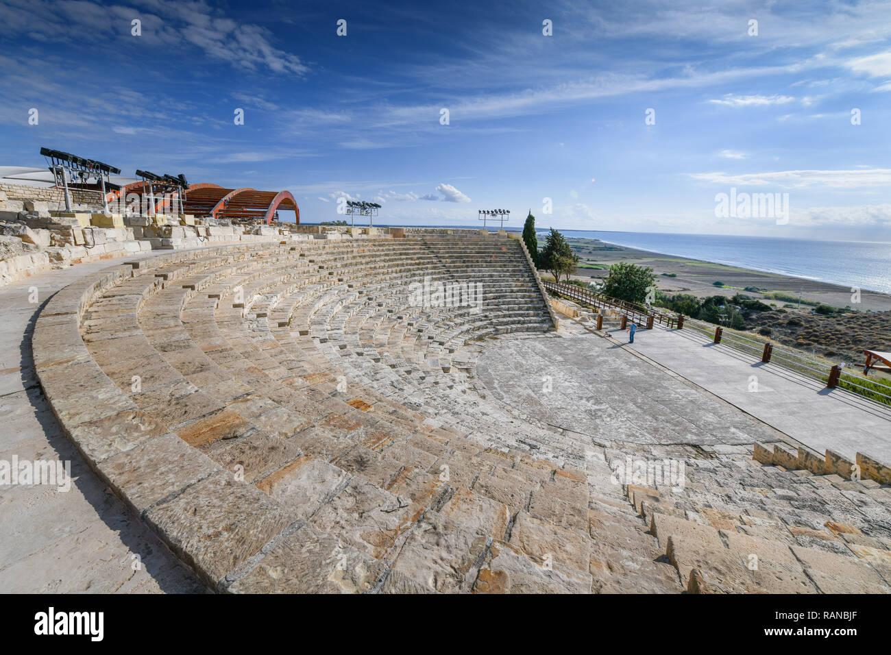 Amphitheatre, excavation site, Kourion, Cyprus, Amphitheater, Ausgrabungsstaette, Zypern Stock Photo