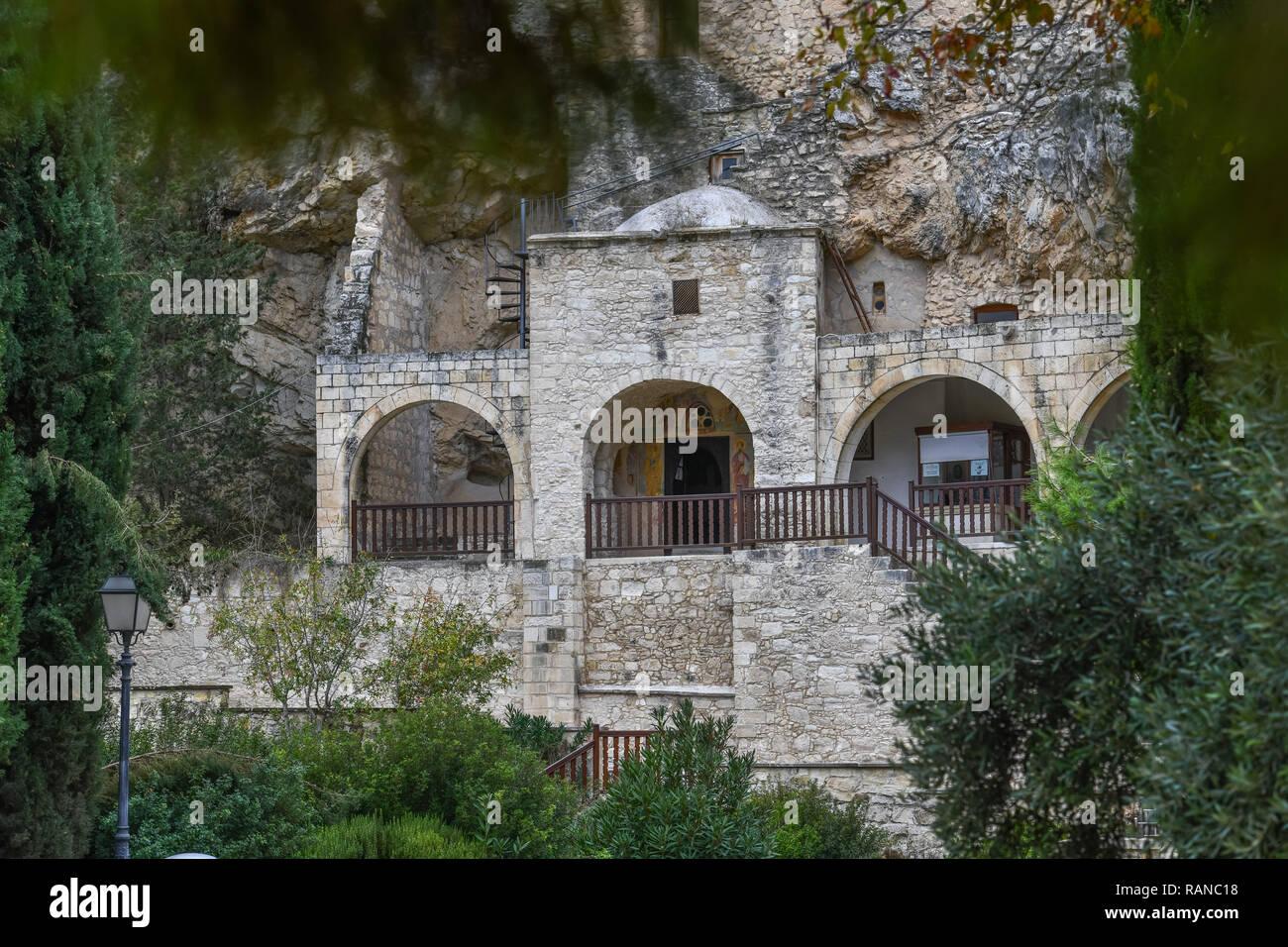 Cave, cloister of agio Neofytos, Cyprus, Hoehle, Kloster Agios Neofytos, Zypern - Stock Image