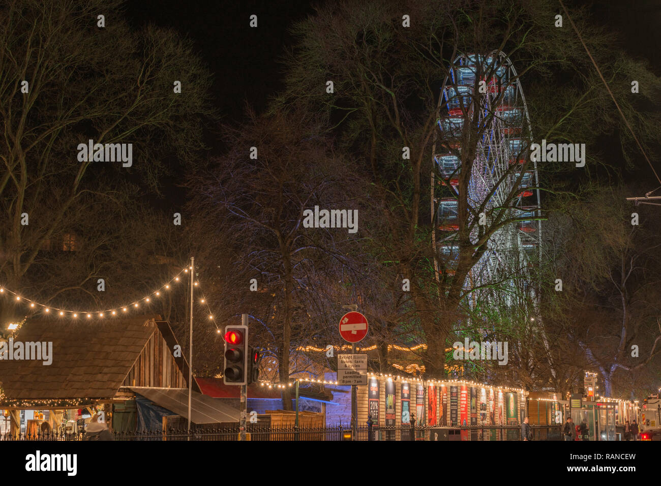 Edinburgh's 2018 Xmas market and fair is a popular attraction in the run up to Christmas - Stock Image