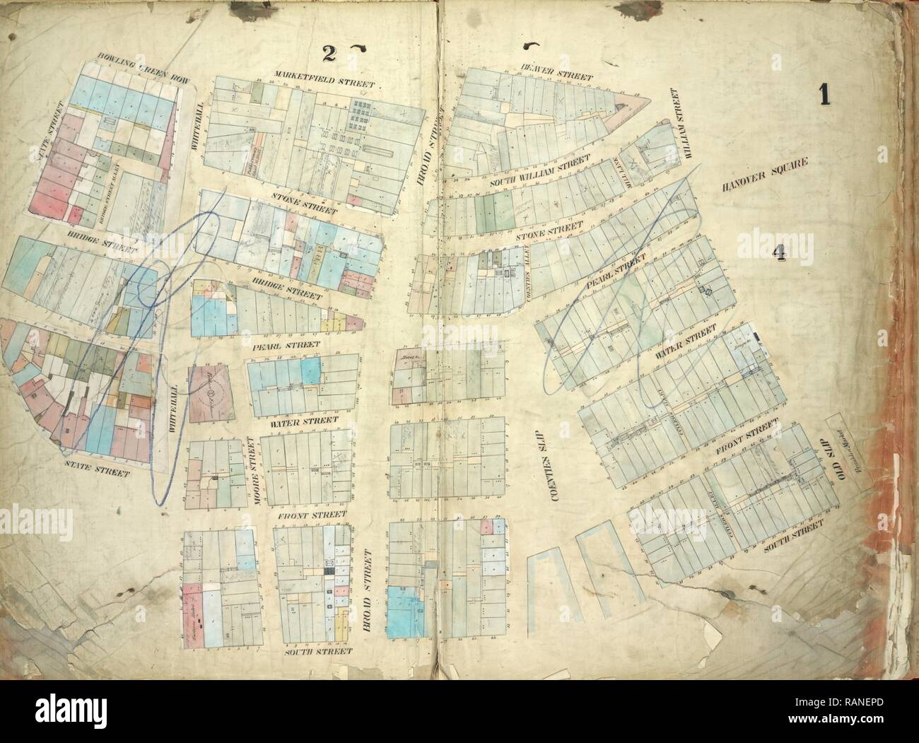Plate 1: Map bounded by Bowling Green Row, Marketfield Street