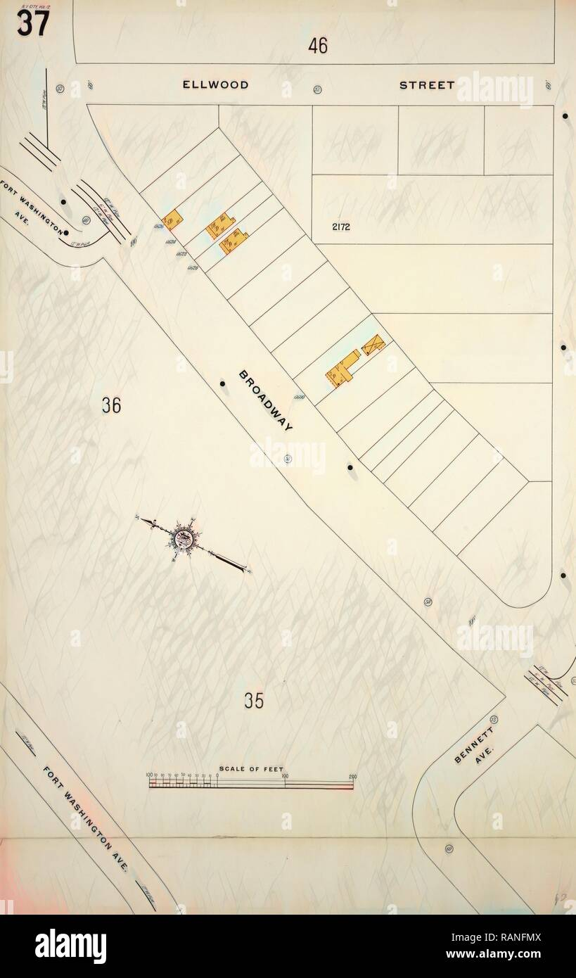 Manhattan V 12 Plate No 37 Map Bounded By Ellwood St Nagle Ave