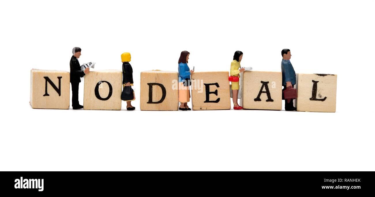 No deal brexit concept - Stock Image