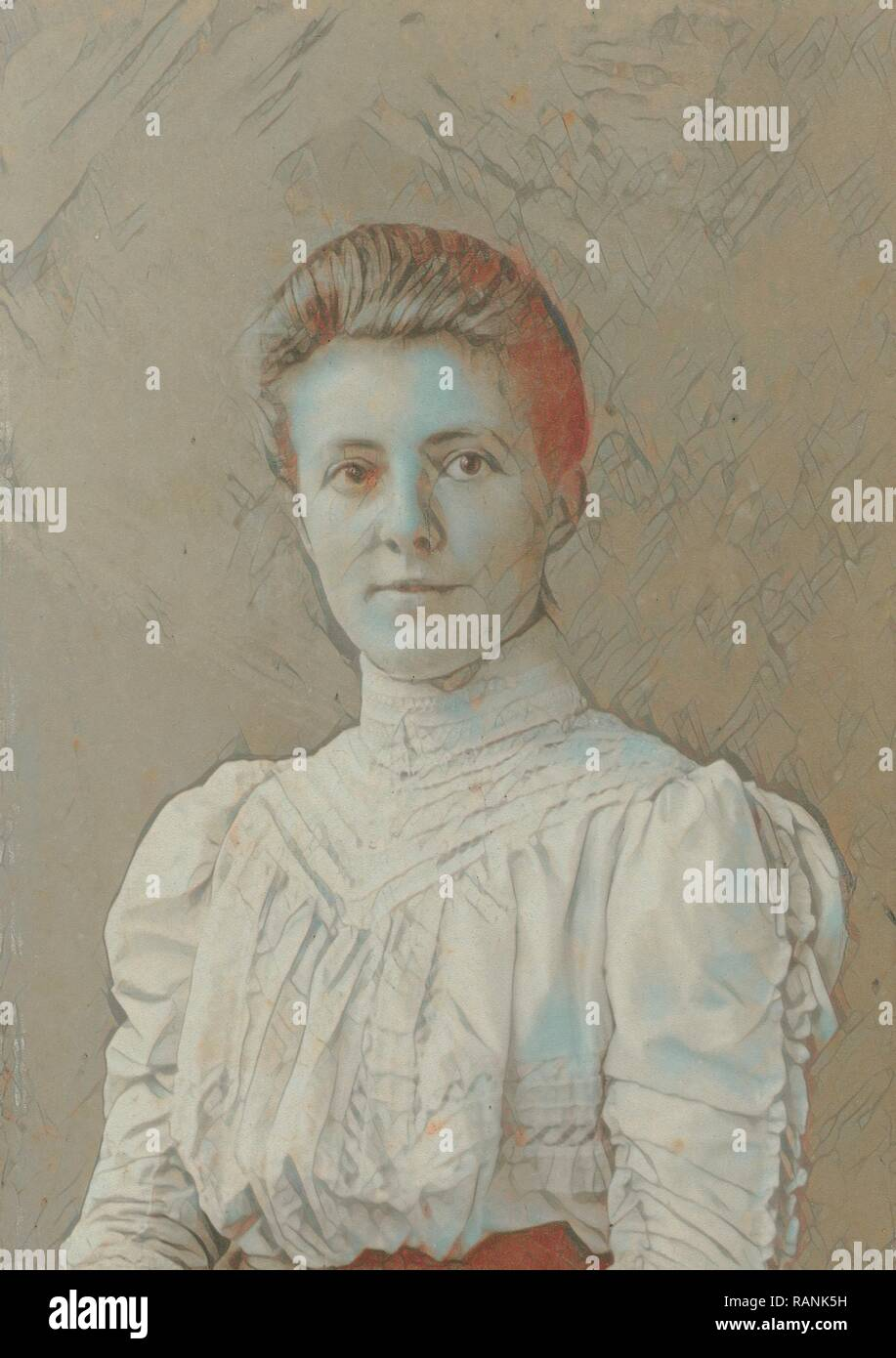 Portrait woman, A.S. Weinberg, 1907. Reimagined by Gibon. Classic art with a modern twist reimagined Stock Photo
