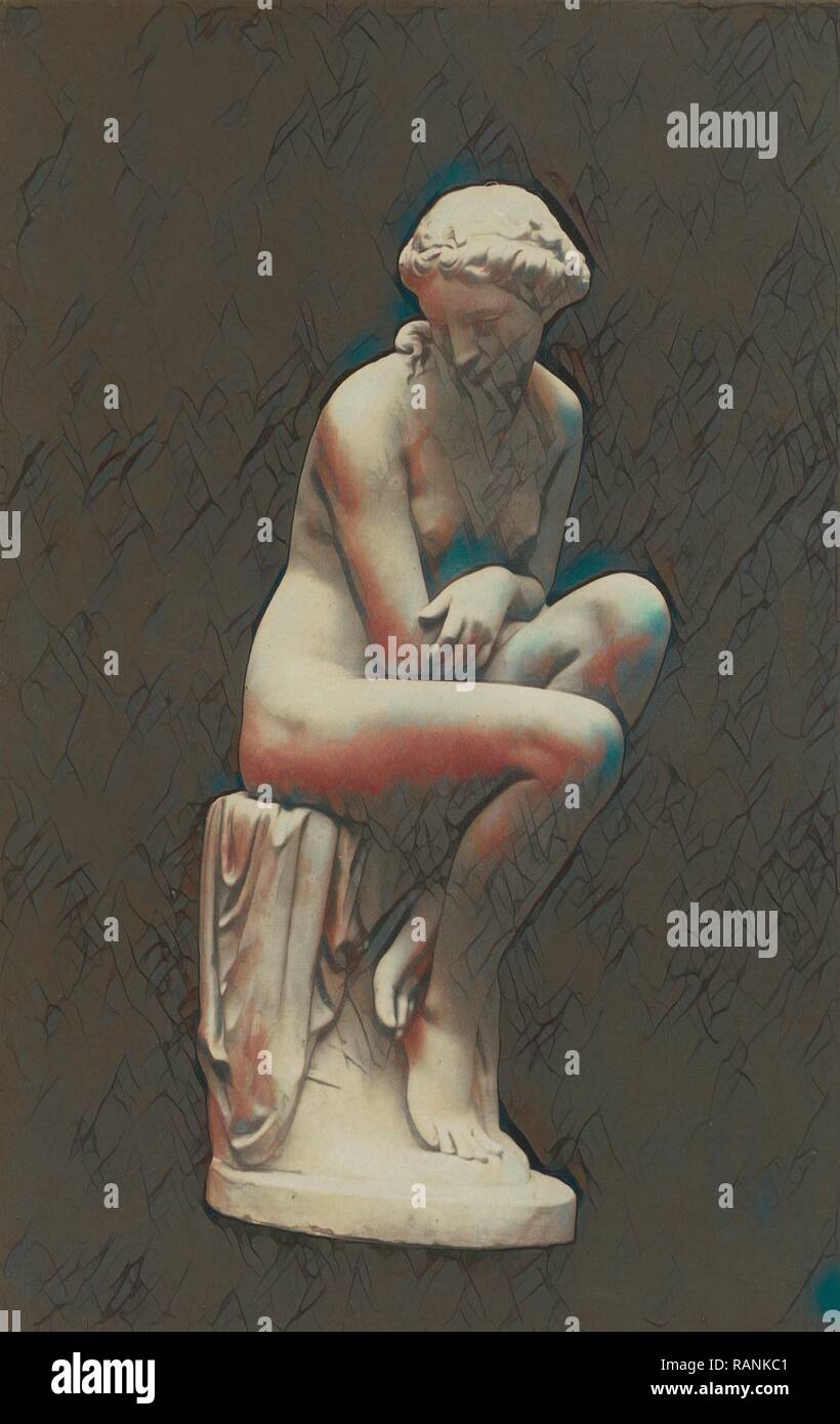 A Bather. (Marble) Lawlor., Anonymous, 1851. Reimagined by Gibon. Classic art with a modern twist reimagined - Stock Image