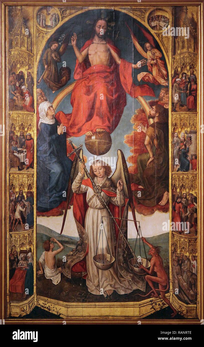 Judici Final by Vrancke van der Stockt 1420 - 1495) was an early Netherlandish painter Museu d'Història de la Ciutat Museu d'Història de la Ciut - Stock Image
