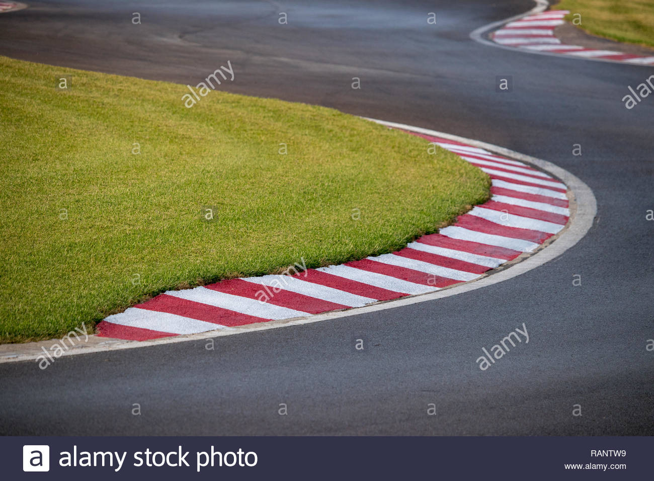 karts circuit curve as a concept of difficulty, effort and new challenges - Stock Image