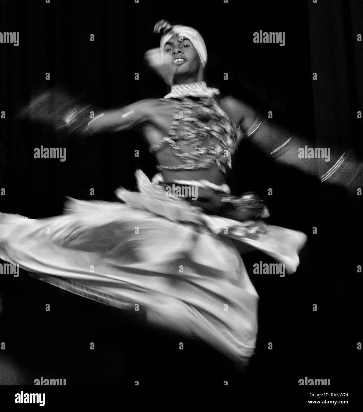 Whirling Kandy traditional dancer, Sri Lanka - Stock Image
