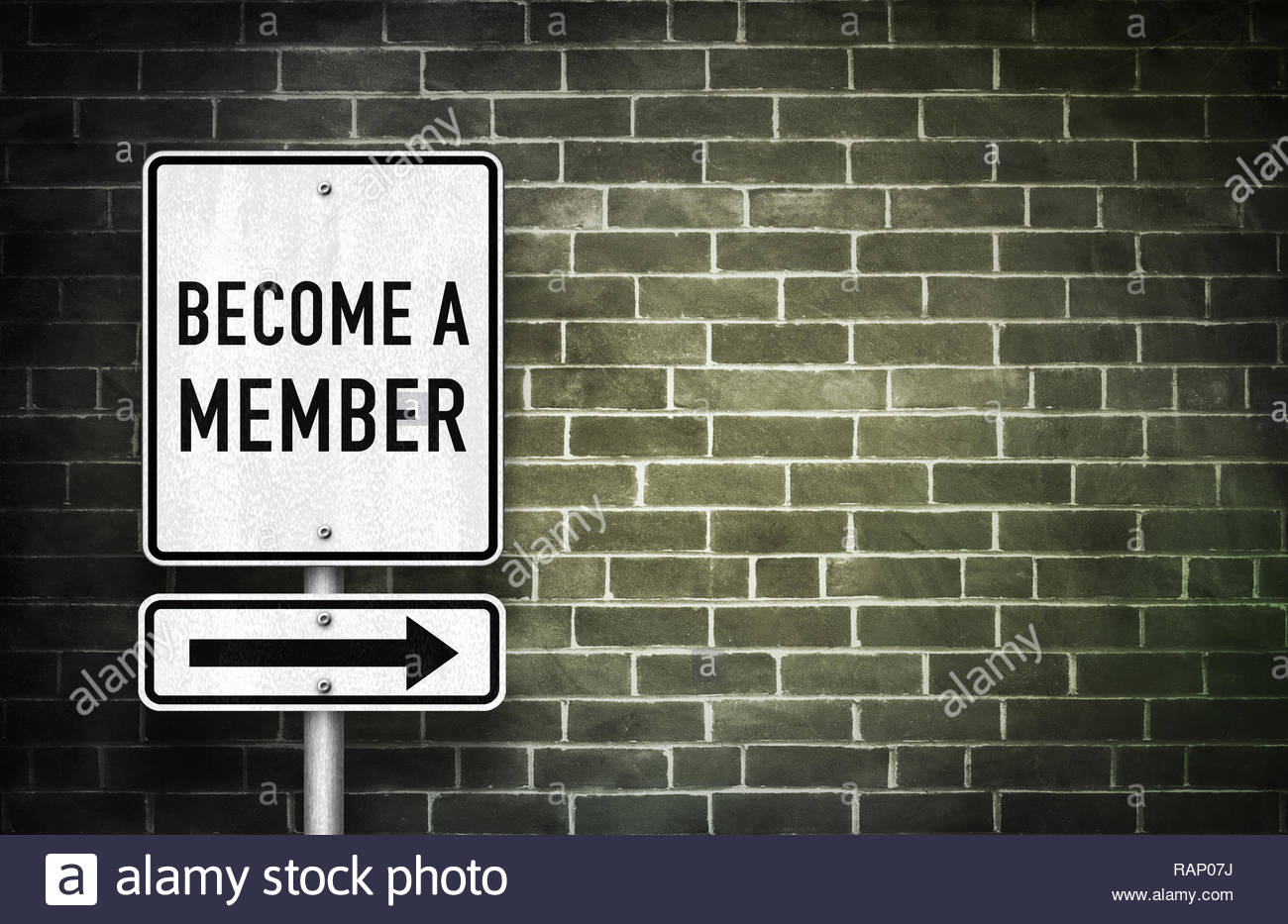Become a member - Stock Image