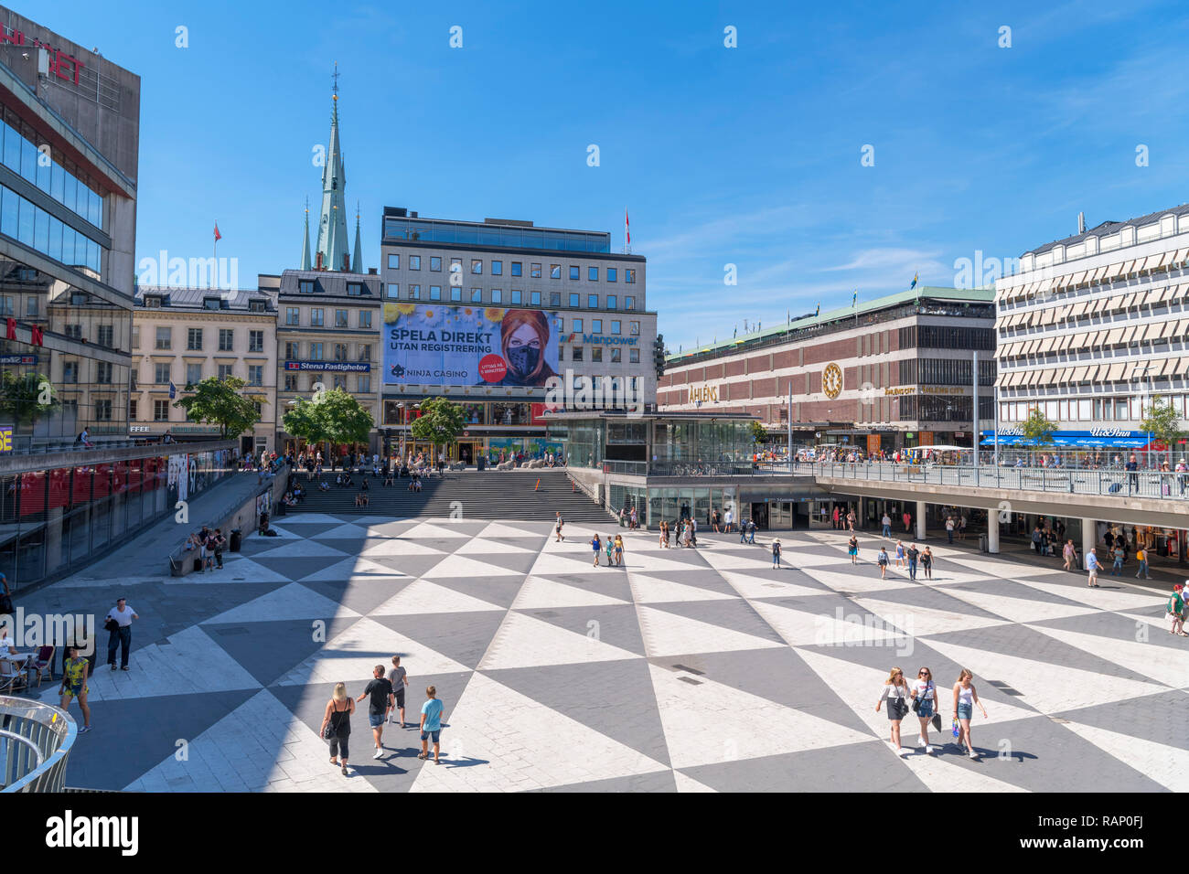 4d33aede1bf Sergels torg, a major public square in the city centre, Norrmalm,  Stockholm, Sweden