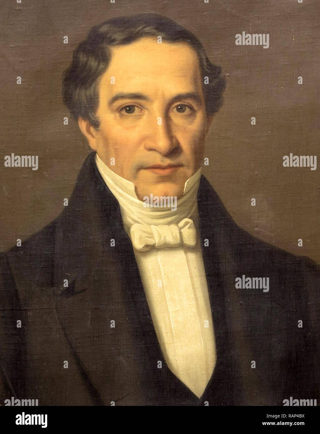 José María Bocanegra (1787 – 1862).3rd President of Mexico - Stock Image