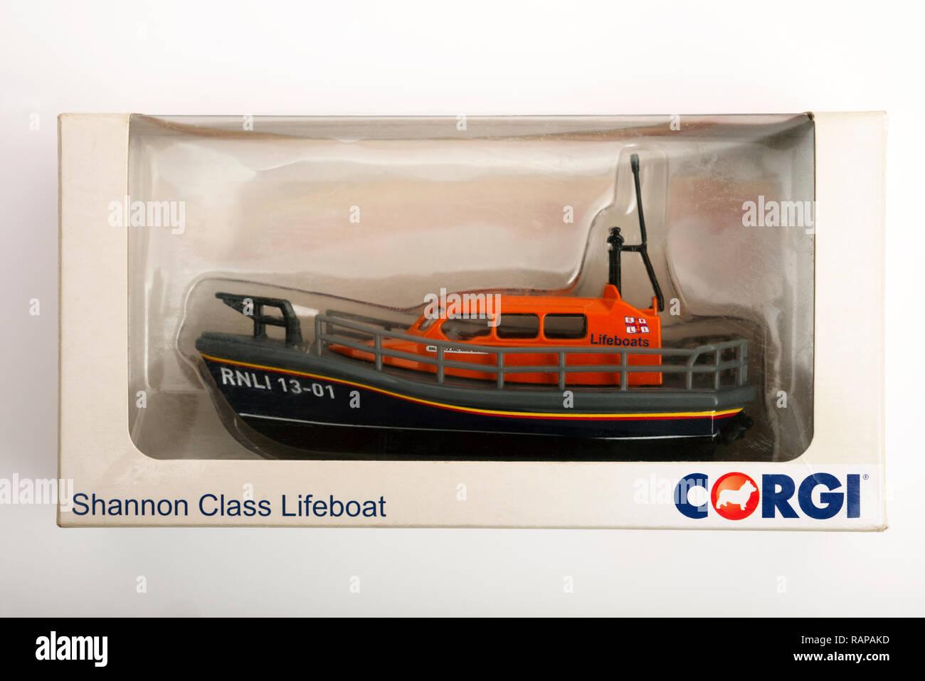 Corgi Shannon Class Lifeboat model - Stock Image