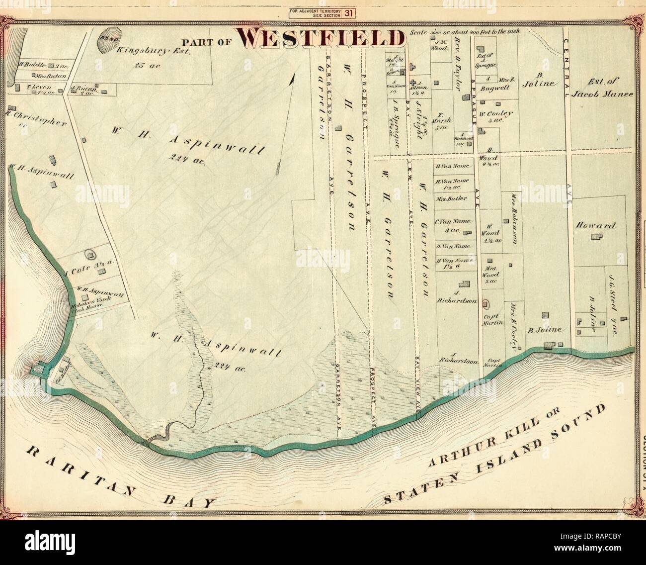 Part of Westfield, New York, USA. Reimagined by Gibon. Classic art with a modern twist reimagined - Stock Image