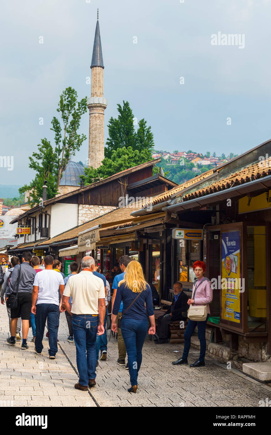 Bascarsija old bazar, Sarajevo, Bosnia and Herzegovina - Stock Image
