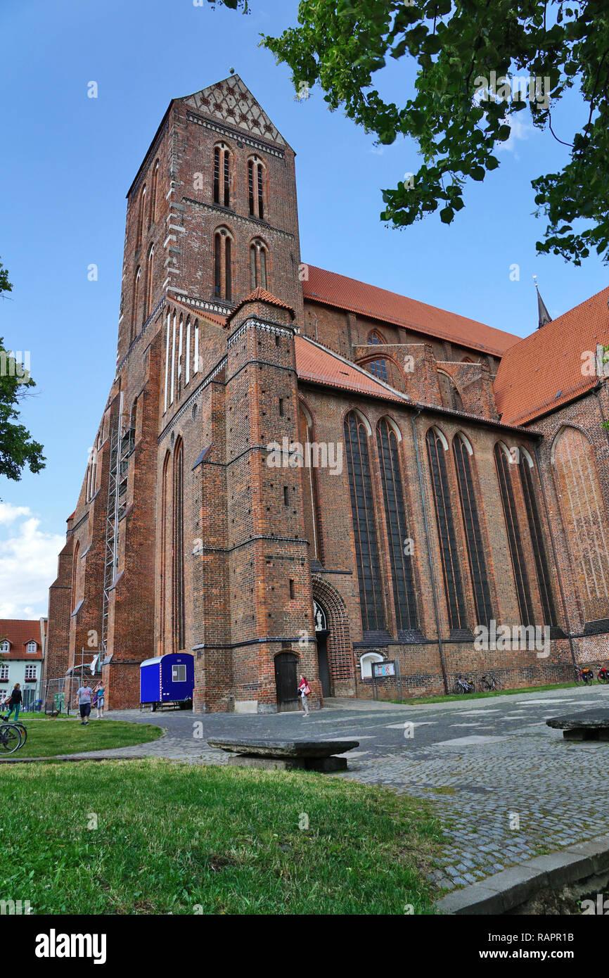 St. Nikolai church in Wismar - Stock Image