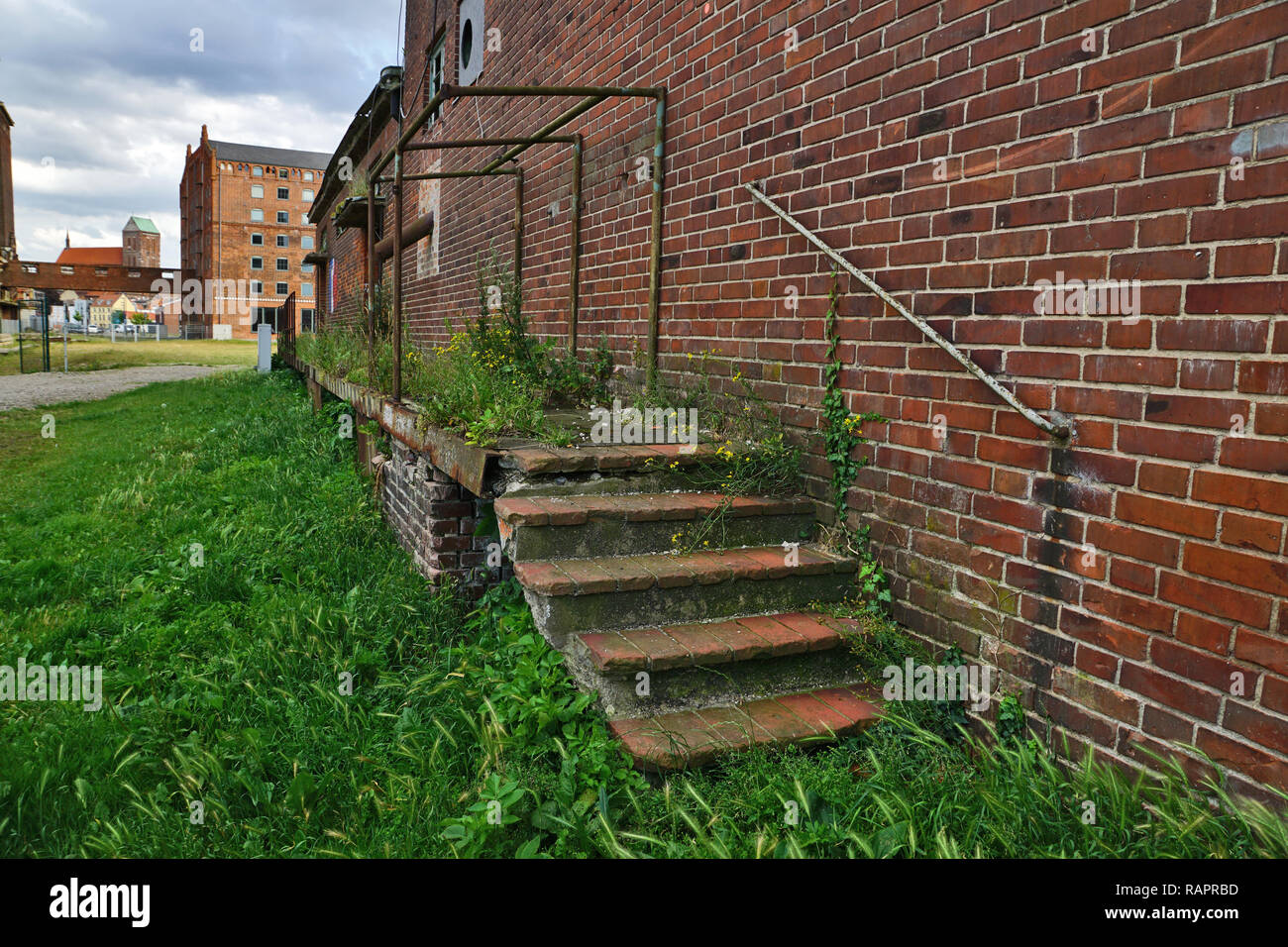 Abandoned an overgrown steps in VEB Weimar - Stock Image
