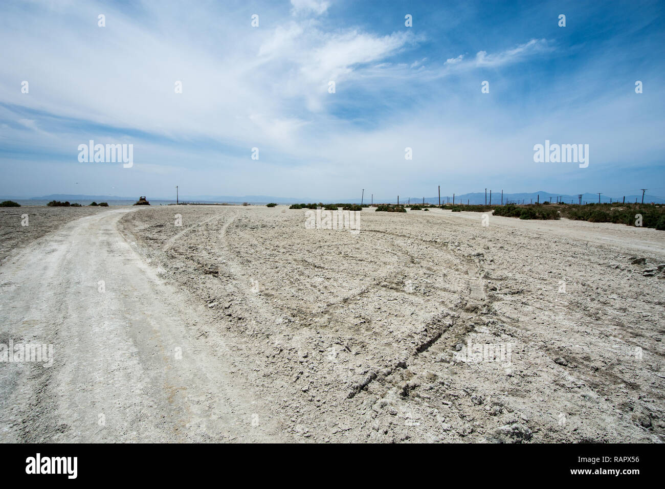 Bombay Beach at the Salton Sea in the desert area of California - Stock Image