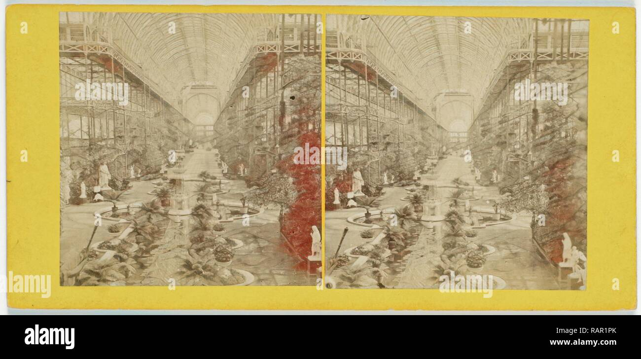 Crystal Palace, Sydenham London UK, . Reimagined by Gibon. Classic art with a modern twist reimagined - Stock Image