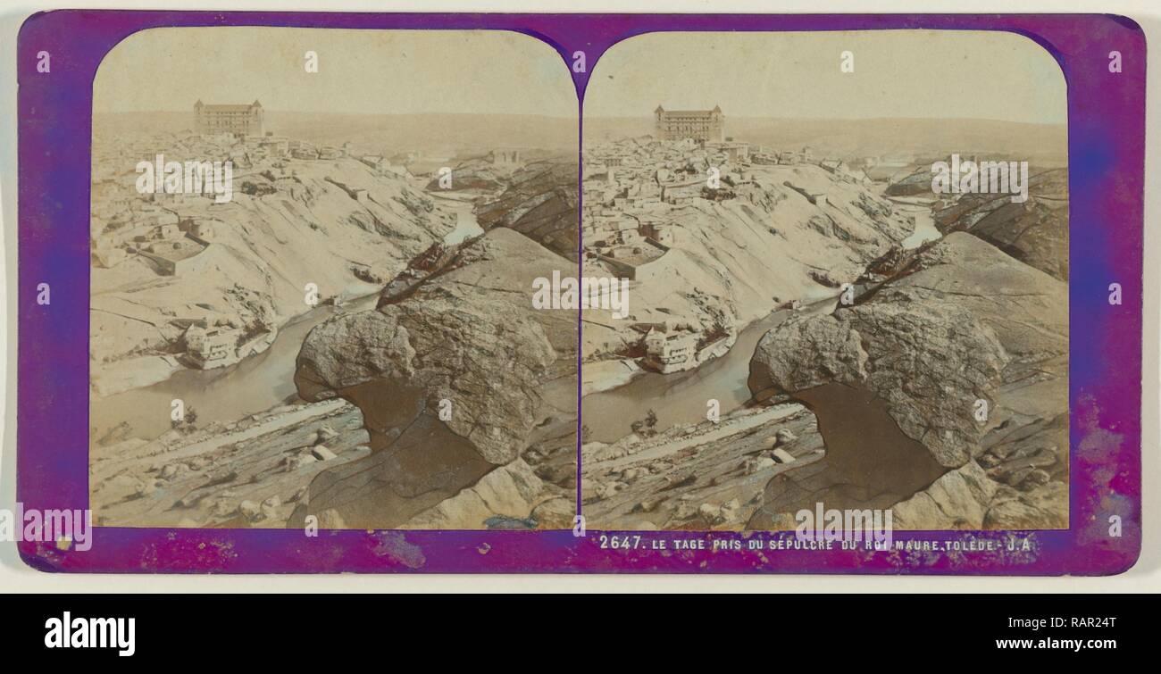 Le Tage pris du Sepulcre du Roi Maure, Toledo, Spain, Jean Montaigue Andrieu, 1868 - 1877. Reimagined - Stock Image