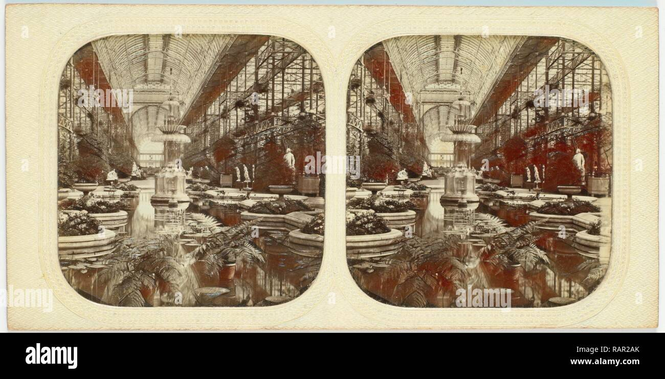 Engeland, Londen, Crystal Palace, Sydenham UK, attributed to The London Stereoscopic Company, 1854 - 1859. Reimagined - Stock Image