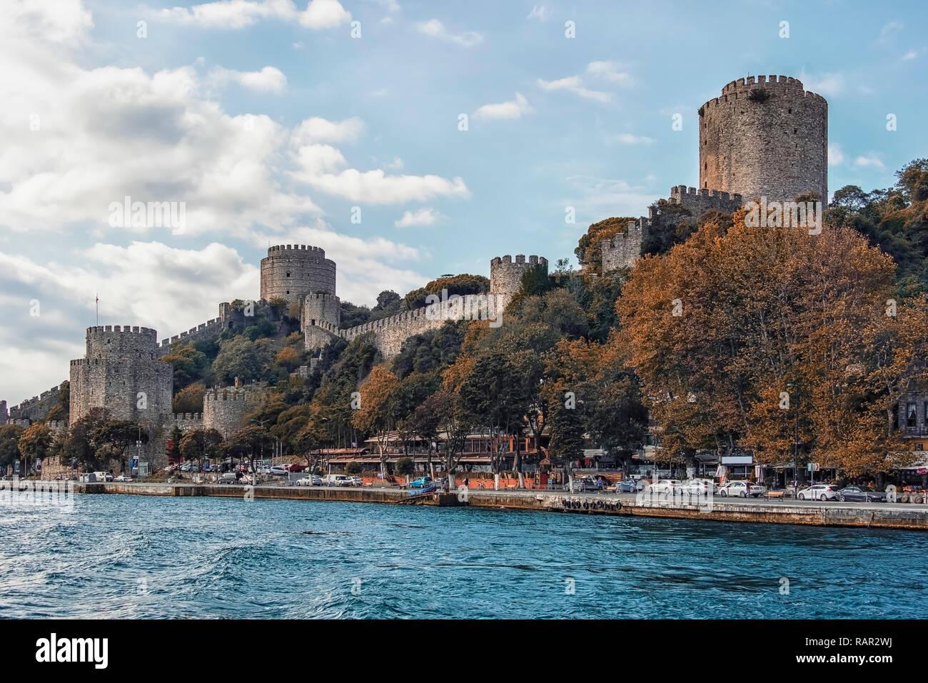 Rumelian Castle in Istanbul Stock Photo