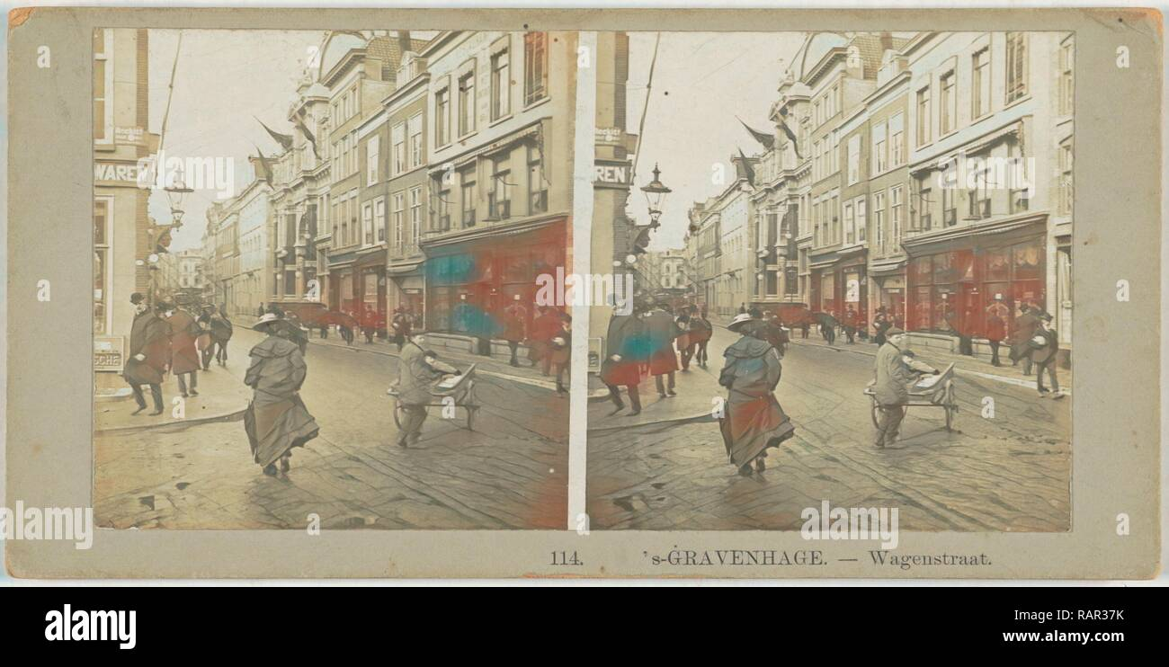s Gravenhage Wagenstraat, The Netherlands, Anonymous, 1890 - 1910. Reimagined by Gibon. Classic art with a modern reimagined - Stock Image