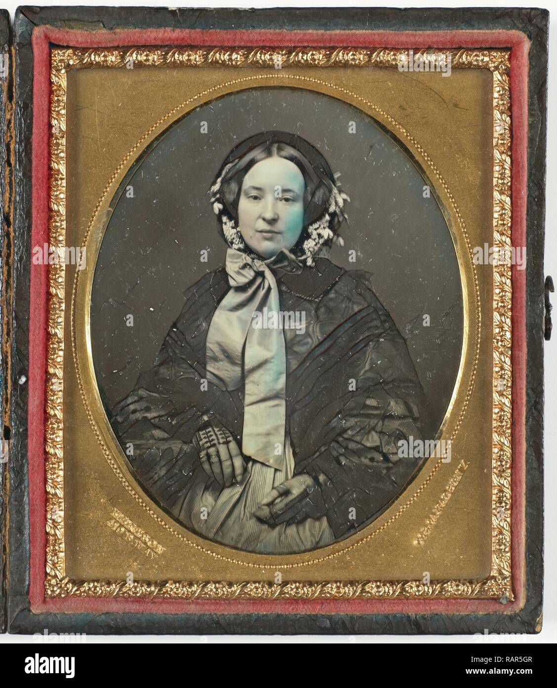 Portrait of a woman, Kertson, 1852. Reimagined by Gibon. Classic art with a modern twist reimagined - Stock Image