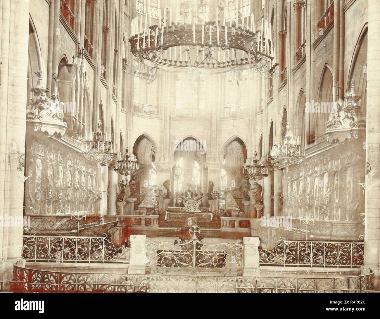 Interior Of Notre Dame In Paris France Anonymous J