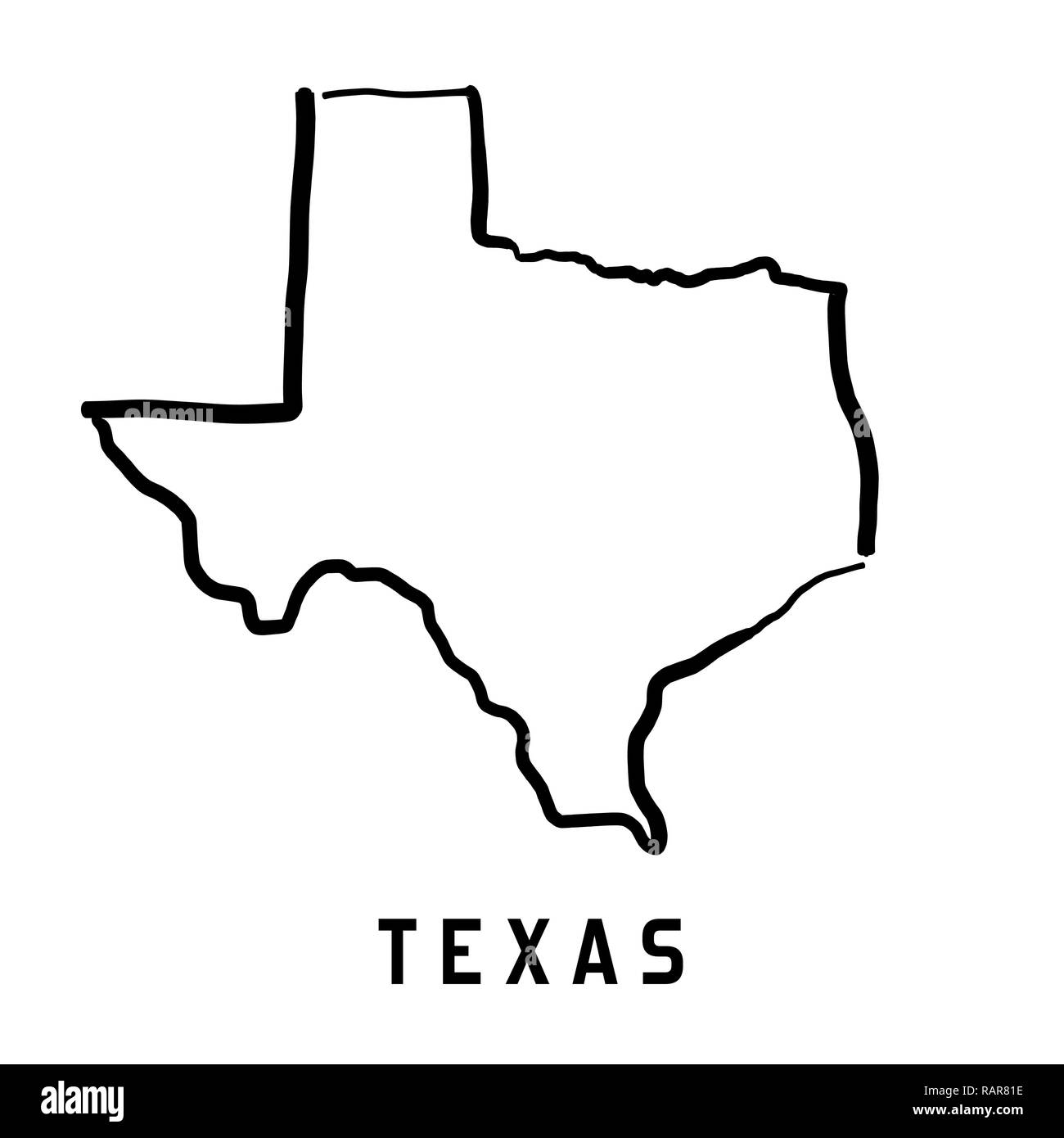 Outline Of Texas Map.Texas Map Black And White Stock Photos Images Alamy