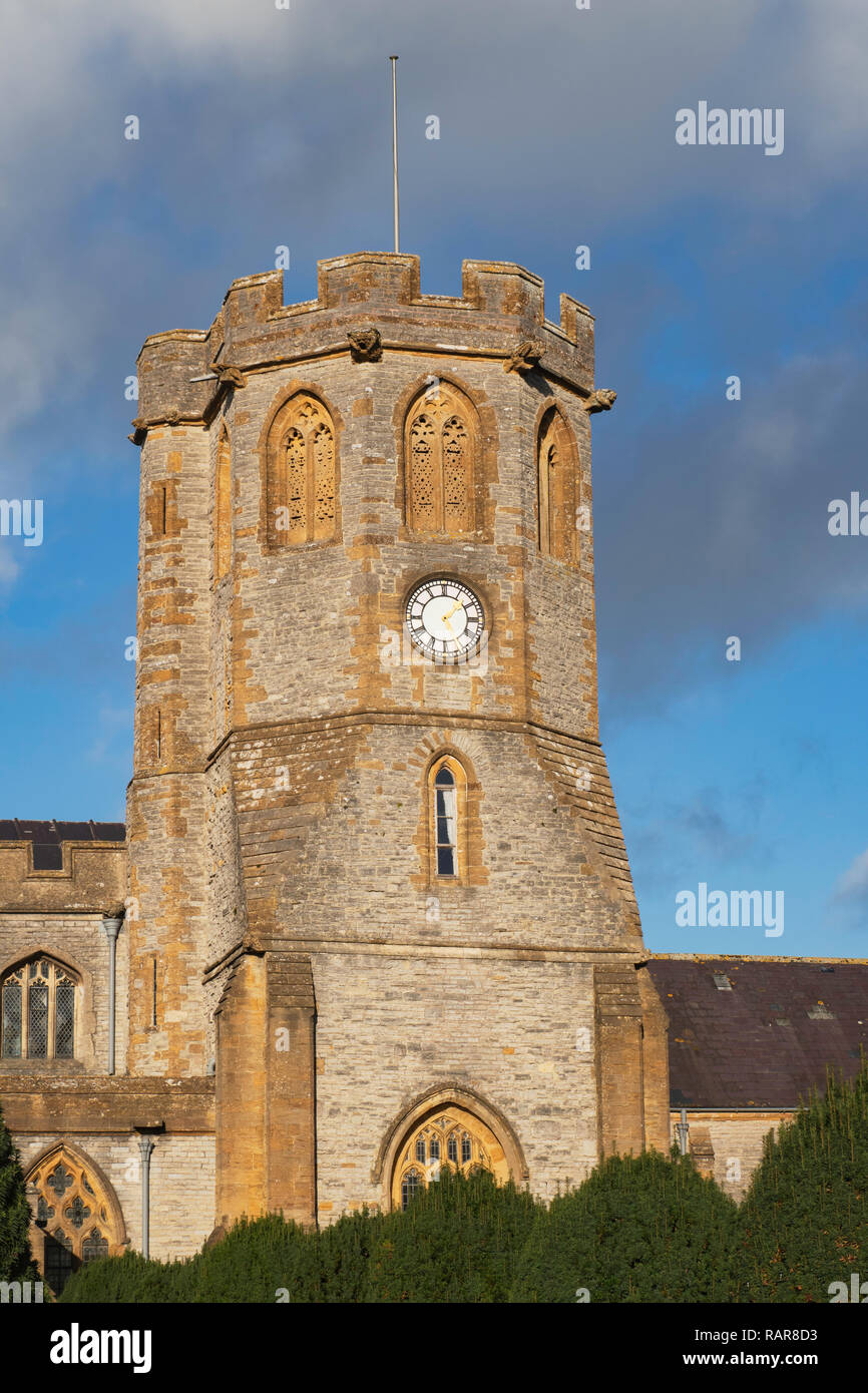 Parish church in the village of Somerton Somerset England UK - Stock Image