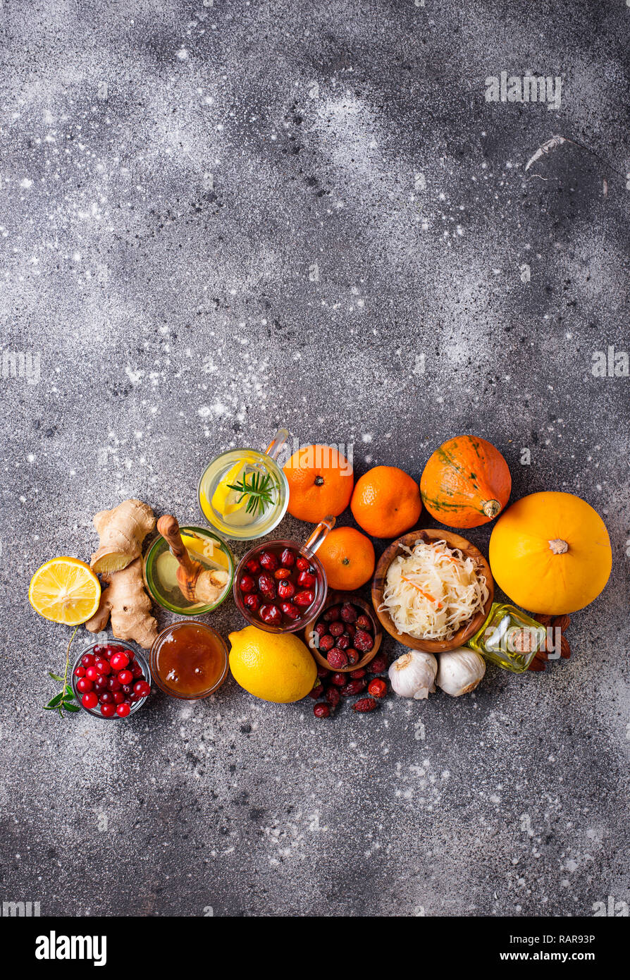 Healthy products for Immunity boosting - Stock Image