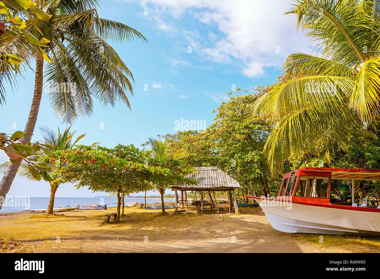 On the beach of Playa Tarcoles Costa Rica Stock Photo
