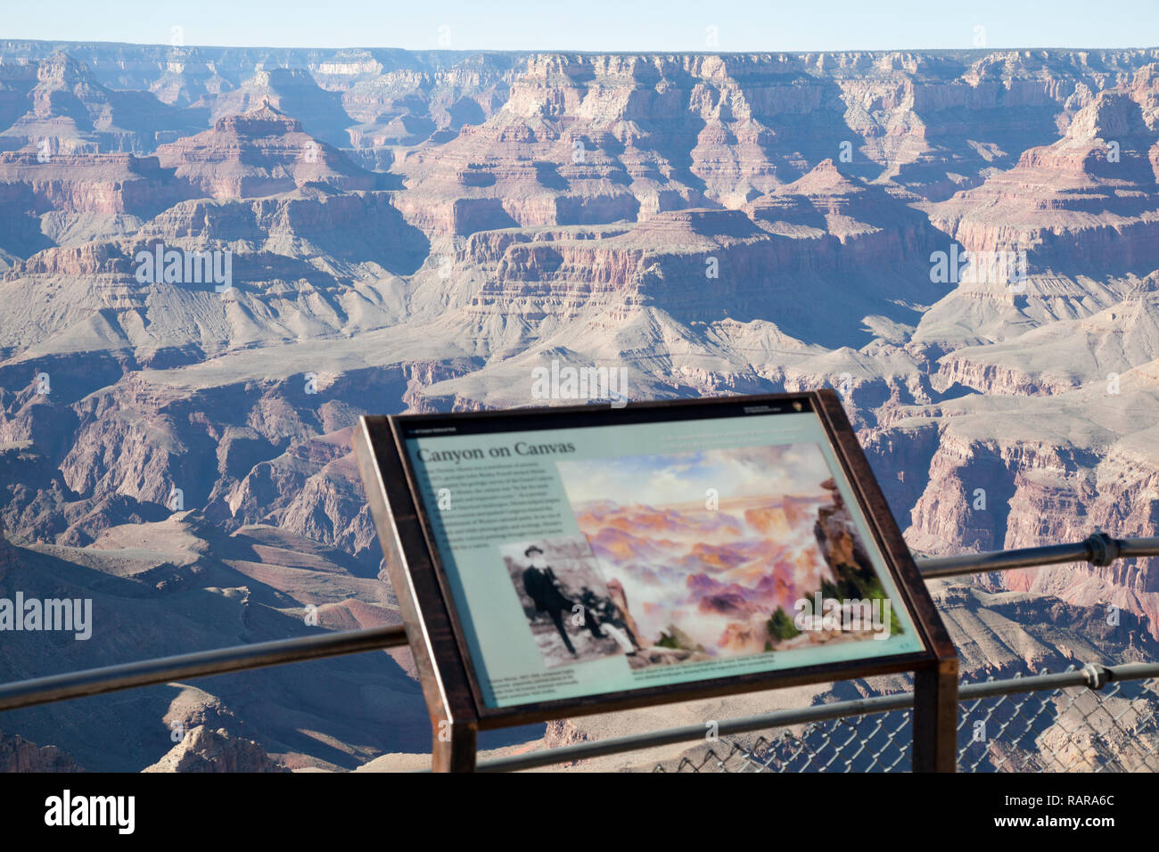 view of the colors of the  Grand Canyon from Grandview point  lookout - Stock Image
