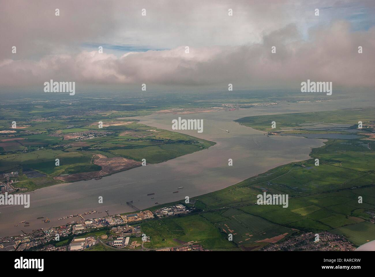 Near the estuary of the River Thames in Kent, England - Stock Image
