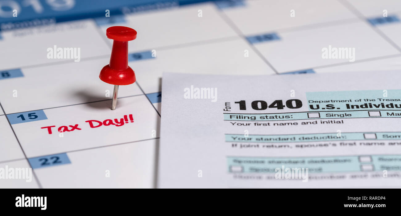 Printed copy of simplified Form 1040 for income tax return