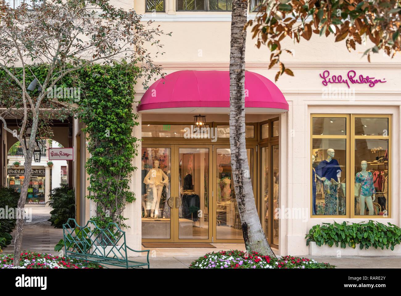 e99de16310066f Lilly Pulitzer store on Worth Avenue in Palm Beach, Florida. (USA) -