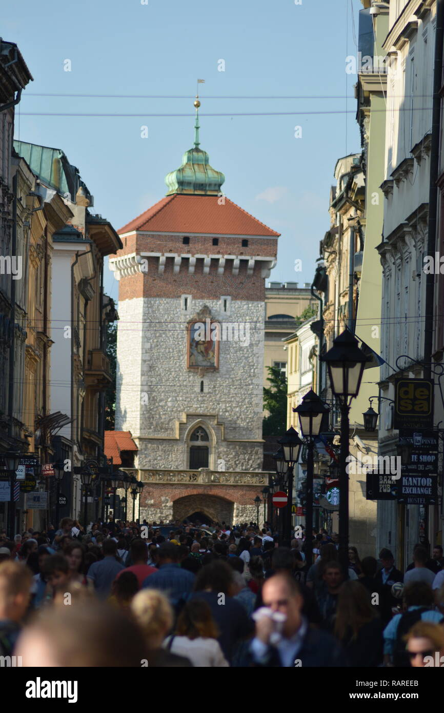 exploring the beautiful city of Krakow - Stock Image