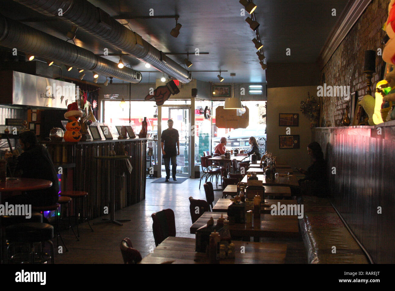 Interior Of Restaurant In Downtown Chattanooga Tn Stock