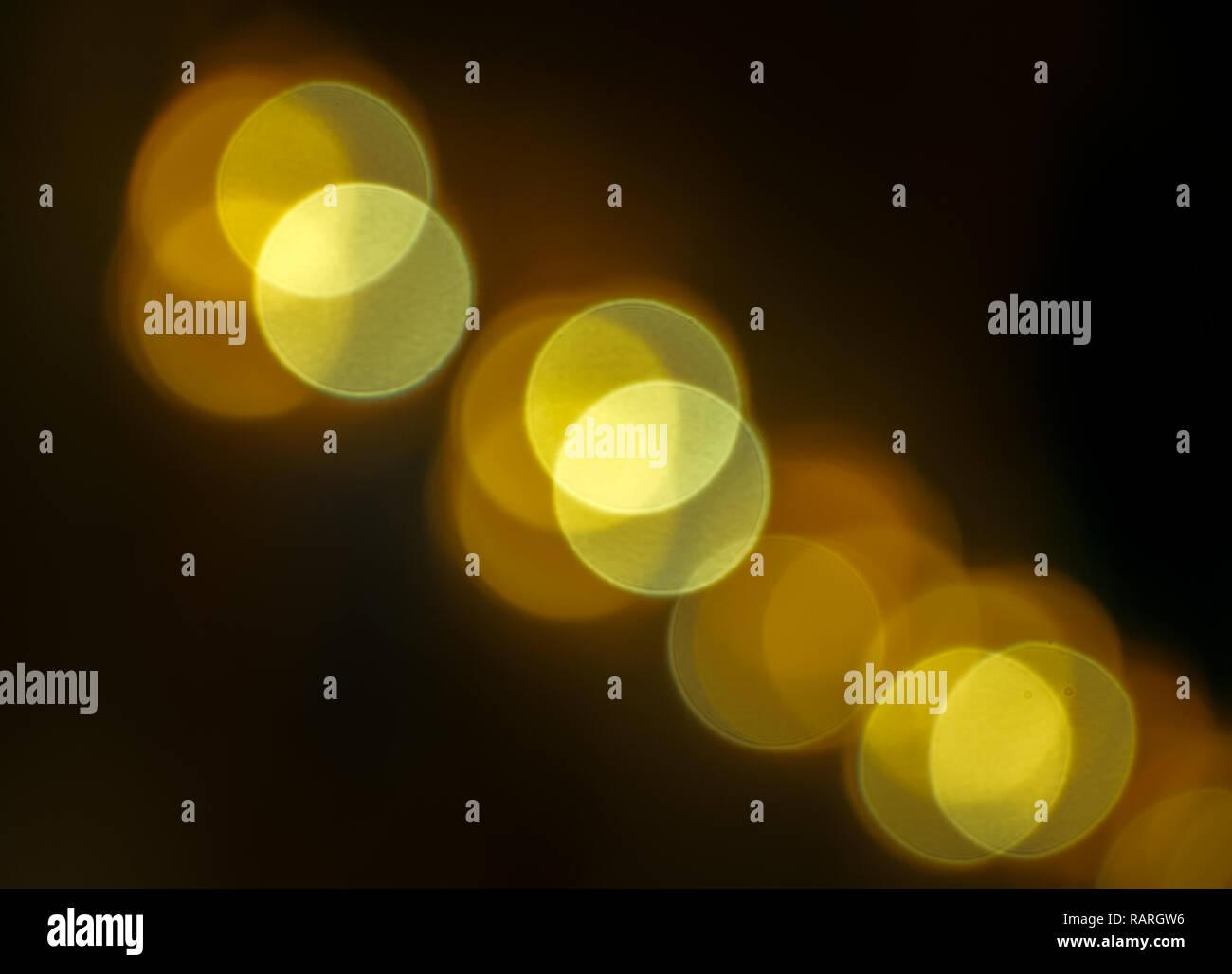 defocused pattern of lights with bokeh - Stock Image